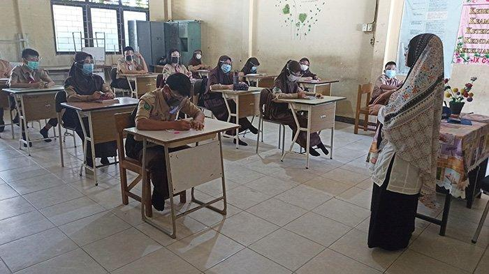 Pembelajaran Tatap Muka di SMPN 3 Singkawang Berjalan Baik, Kepsek Ungkap Ketatnya Prokes