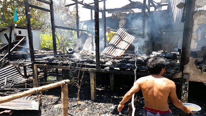Musibah Kebarakan Landa Dua Rumah Warga di Desa Suka Maju Kapuas Hulu