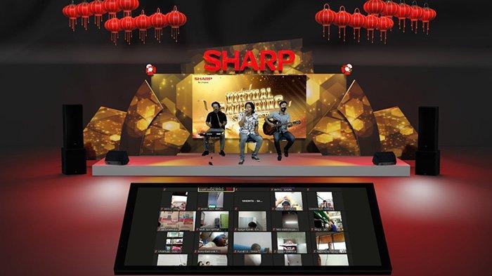 Music Performance dari Official Dora yang menghibur para peserta zoom dalam rangkaian Sharp Virtual Subdealer Gathering, pada Kamis 8 April 2021.