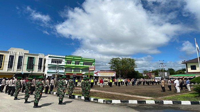 Kabag Ops Polres Sanggau Pimpin Apel Gabungan Persiapan Pengamanan Paskah