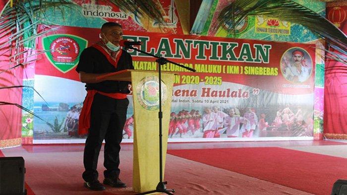 Pengurus Ikatan Keluarga Maluku Singbebas Dikukuhkan, William Ajak Jaga Perdamaian Serta Toleransi