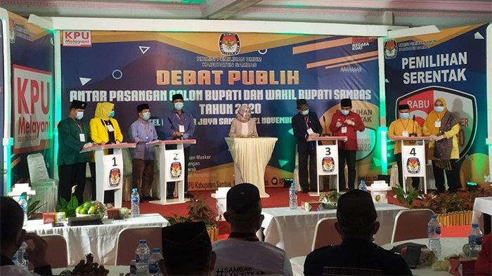 Empat Paslon Hadiri Debat Kandidat Cabup-cawabup Sambas