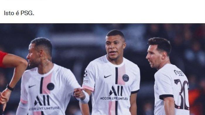 Debut Pahit Messi Neymar Mbappe Gagal Bawa PSG Tundukkan Tim Sekelas Club Brugge di Liga Champions