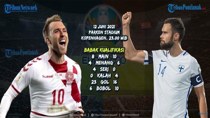 Skor Denmark Vs Finlandia Hingga Menit 25' Belum Ada Gol ! Nonton RCTI Live Streaming Euro 2021