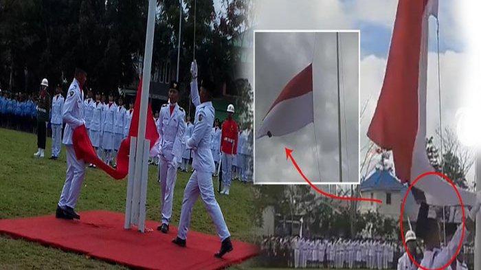Deretan Insiden Memalukan Pengibaran Bendera 17 Agustus, Dari Rok Melorot Hingga Gagal Dikibarkan