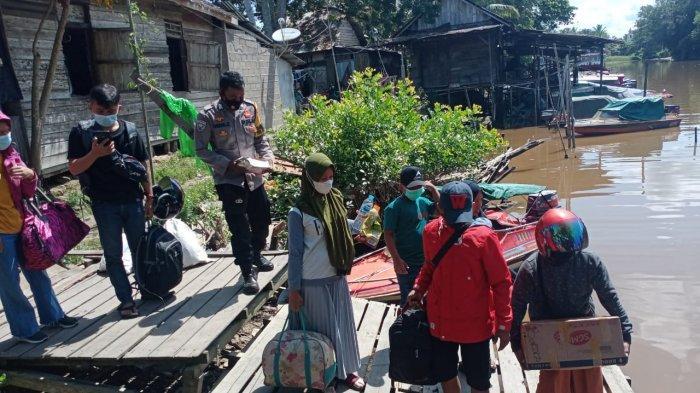 Polsek Rasau Jaya Perketat Pelabuhan dan Dermaga Antisipasi Arus Balik