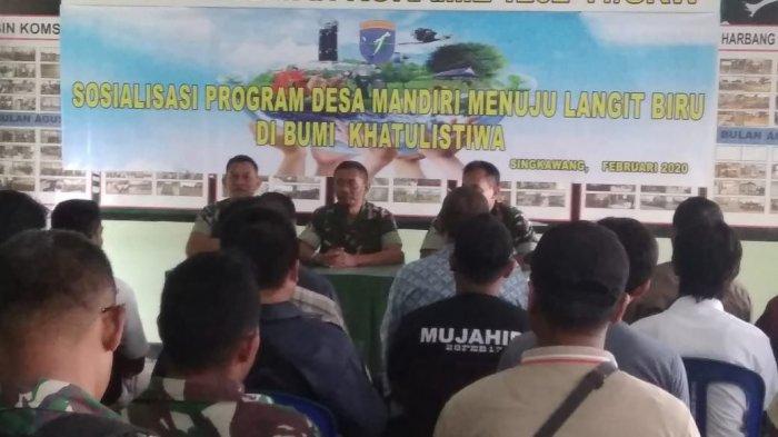 Koramil 1202-05/Singkawang Lakukan Sosialisasi Program Desa Mandiri Menuju Langit Biru
