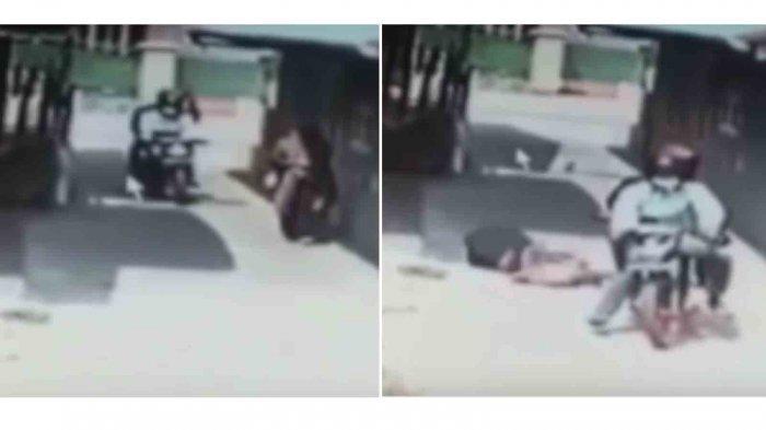Detik-detik Mahasiswi Korban Jambret Terpental ke Jalan Terekam CCTV