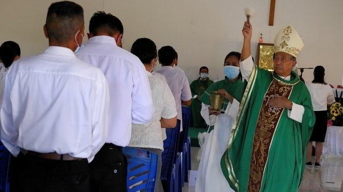 Lantik Dewan Pastoral Paroki, Mgr Agustinus Ajak Umat Jaga Nyawa dan Jiwa Selama Pandemi