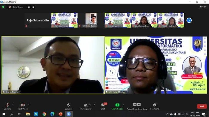 Prodi Sistem Informasi Akuntansi Pontianak Sukses Gelar Seminar Online Karir