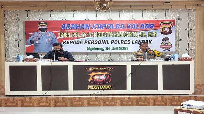 Tujuh Personel Polres Landak Isolasi Mandiri, Kapolda Kalbar : Selalu Terapkan Prokes