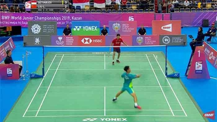 Diambang Juara, Indonesia 2-0 China, Live Laga Penentuan Final Kejuaraan Dunia Badminton Junior 2019