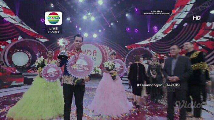 Dinobatkan Juara LIDA 2019, Faul, Puput & Sheyla Sujud Syukur di Panggung! Ini Hadiah yang Diterima
