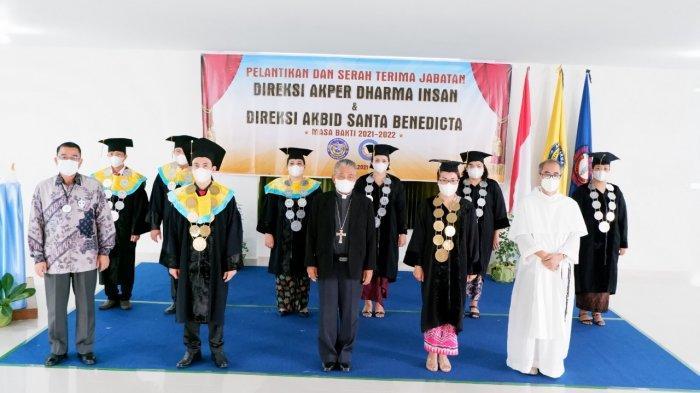 Lantik Direktur Akper Dharma Insan, Uskup Tegaskan Misi Pendidikan Katolik Harus Ditangani Serius
