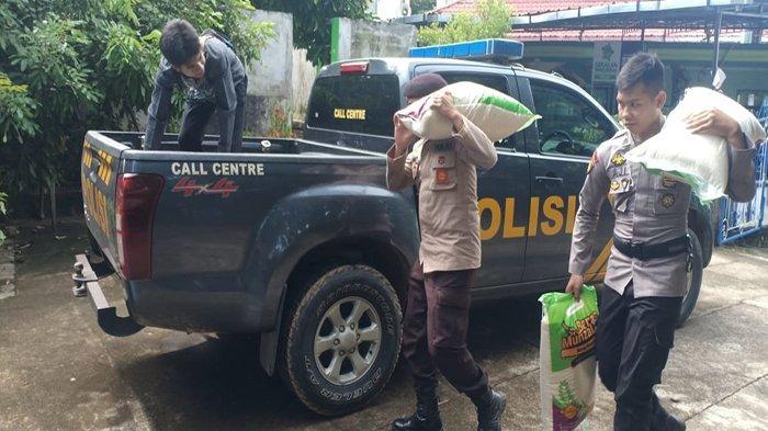 Polres Melawi Bersama Organisasi Keagamaan Distribusikan Bantuan Beras ke Pondok Pesantren
