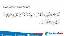 Doa Menerima Zakat Fitrah.