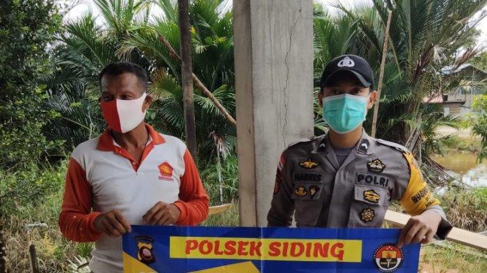 Bhabinkamtibmas Polsek Siding Imbau Warga Binaan Patuhi Protokol Kesehatan