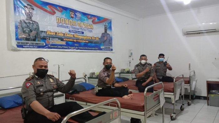 Hari Lalu Lintas ke-66, Satlantas Polres Kubu Raya Gelar Donor Darah, Bagikan Sembako dan Masker