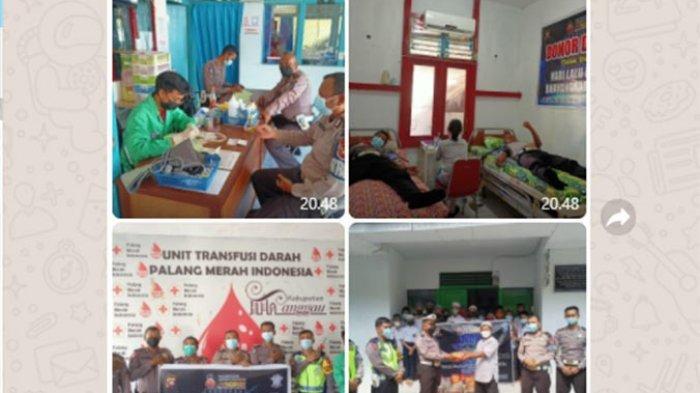 Satlantas Polres Sanggau Gelar Donor Darah dan Baksos di HUT ke-66 Lalu Lintas Bhayangkara