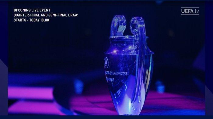 Pengundian atau drawing Perempat Final dan Semifinal Liga Champions 2020-2021, Jumat 19 Maret 2021.