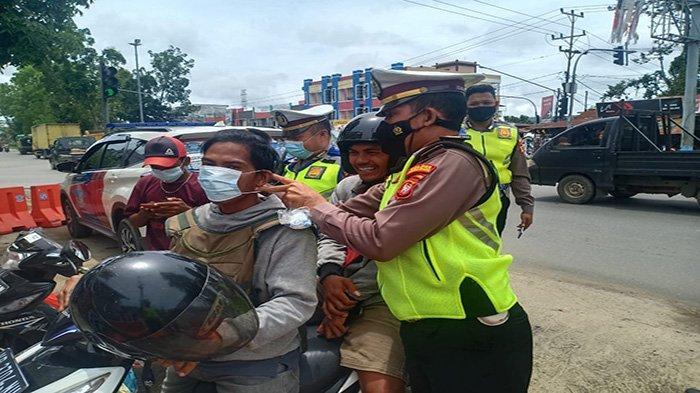 Satlantas Polres Kubu Raya lakukan Imbauan Pengendara Patuh Protokol Kesehatan COVID 19