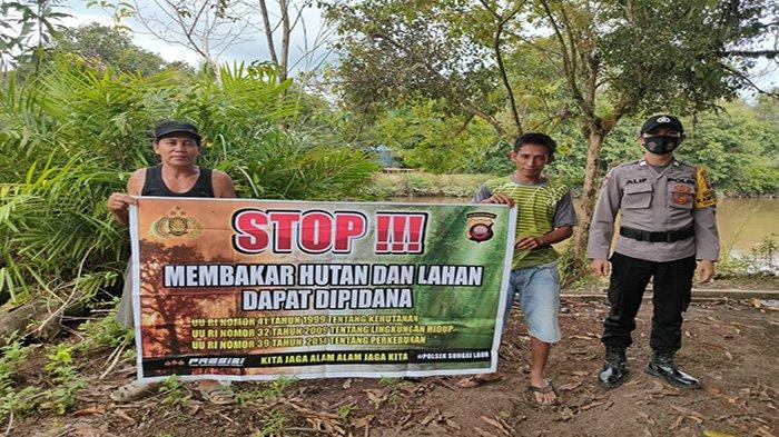 Brigpol Alif Styawan Kunjungi Warga Desa Binaan, Guna Sosialisasikan Stop Pembakaran Hutan dan Lahan