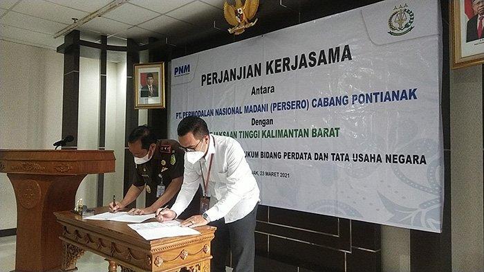 PT. PNM Cabang Pontianak Jalin Kerja Sama Bidang Perdata dan Tata Usaha Negara Dengan Kejati Kalbar