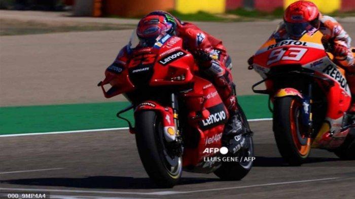 Urutan Hasil MotoGP Aragon 2021 Bagnaia Murid Rossi Melesat Patahkan Duel Sengit Marc Marquez