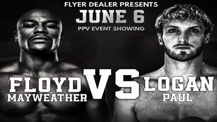 Jadwal Tinju Dunia Floyd Mayweather vs Logan Paul Siaran Langsung Pukul 07.30 WIB Live TVOne