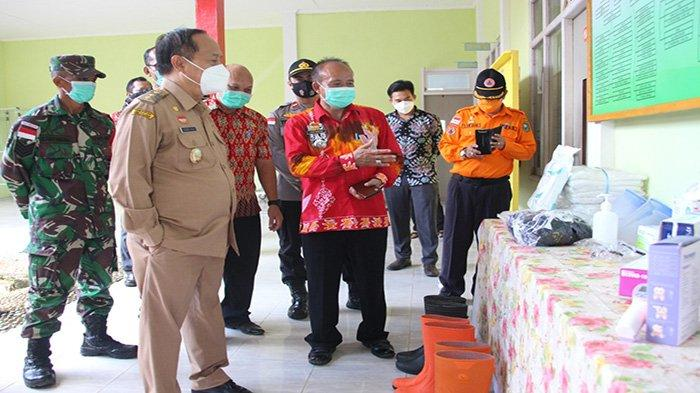 Yohanes Ontot Monitoring Kesiapan Satgas COVID 19 Sejumlah Kecamatan di Kabupaten Sanggau