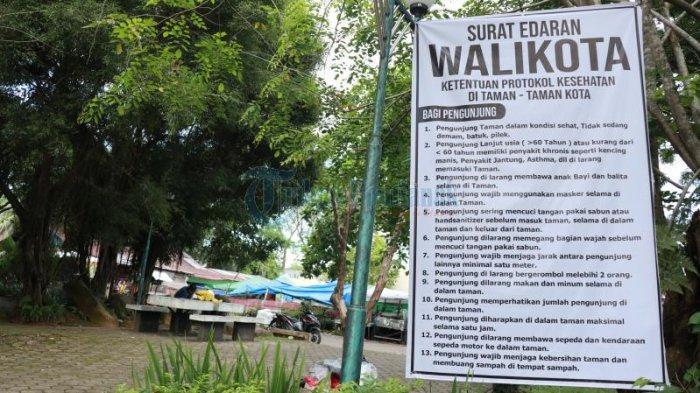 FOTO: Edaran Wali Kota Pontianak Terkait Protokol Kesehatan di Taman Kota