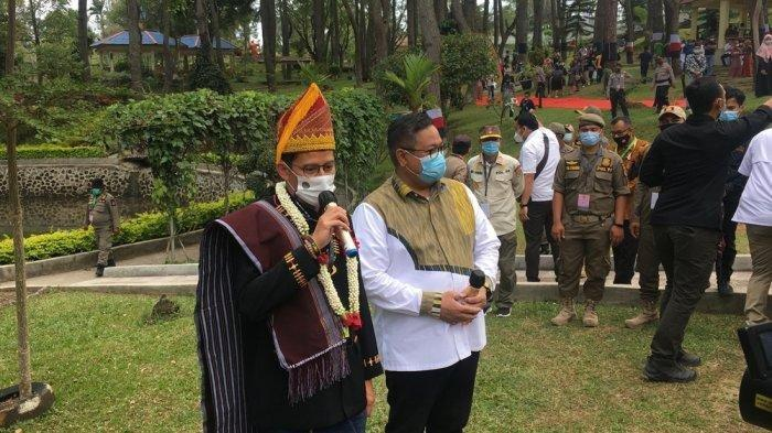 Kunjungi Taman Firdaus di Dairi, Sandiaga Berharap Beri Kontribusi TerhadapPemulihan Ekonomi