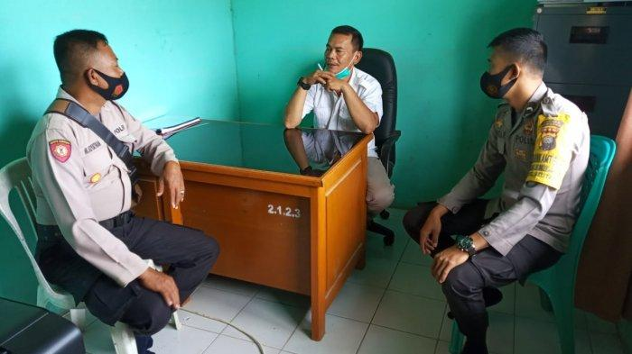Cipta Kondisi Jelang Pilkada 2020, Kapolsek Belitang Sambangi Kades Maboh Permai