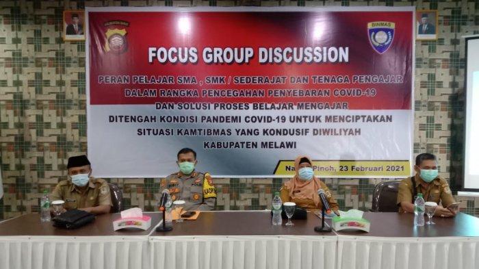 Hadiri FGD, Kapolres Sigit Eliyanto: Dunia Pendidikan Harus Menjadi Acuan Menerapkan Disiplin Prokes