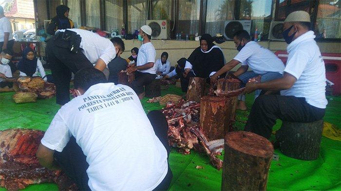 Hari Kedua Idul Adha, Sebanyak 2761 Hewan di Kurbankan di Pontianak