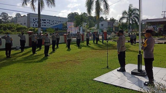 Pimpin Apel Kesiapan Pengamanan Pelantikan Kepala Desa Terpilih, Berikut Arahan Kapolsek Entikong