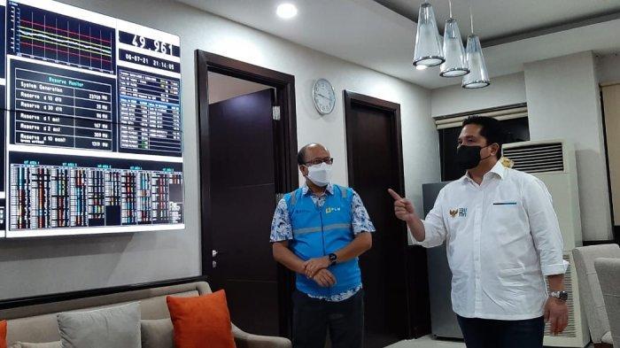 Sidak ke PLN UIP2B, Erick Thohir Pastikan Langsung Pasokan Listrik Bagi Industri Oksigen Aman