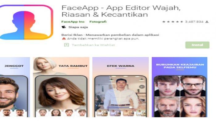 FaceApp filter wajah