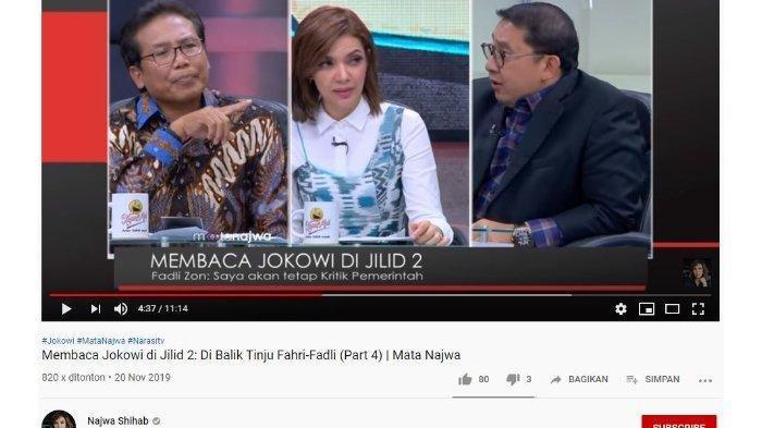 Fadli Zon Debat Sengit dengan Fadjroel Rachman di Mata Najwa, Najwa Shihab Menimpali Sebut Prabowo
