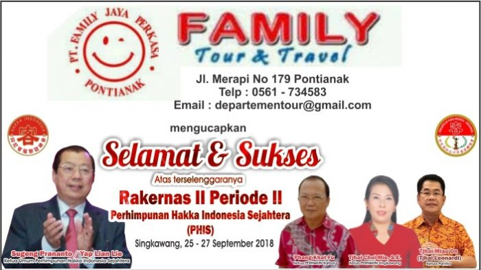 Family Tour and Travel Mengucapkan Selamat Rakernas Hakka Indonesia