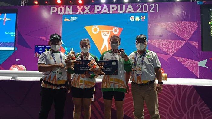 Restu Anggi dan Putri Aulia, 2 Lifter Kalbar Berhasil Tambah 2 Medali Untuk Kalbar Pada PON XX Papua