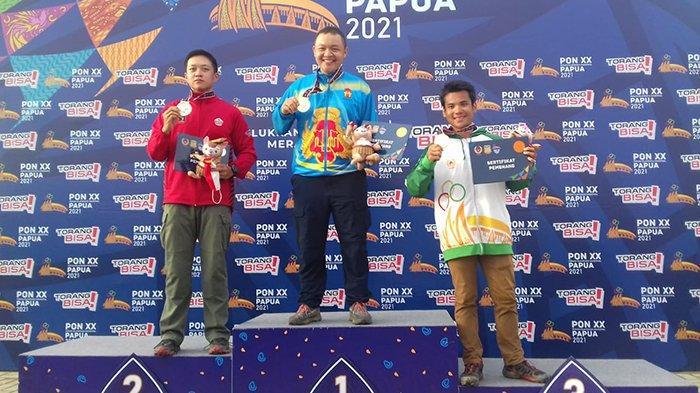 Adrian Zhu Atlet Menembak Kalbar Berhasil Raih Medali Perunggu di PON Papua