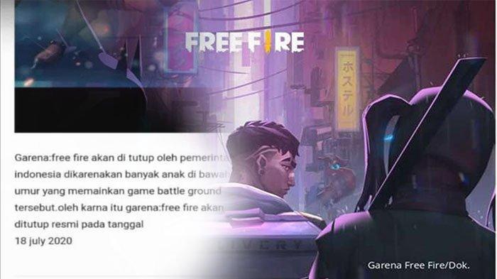 FF Akan Dihapus dari Indonesia Benarkah? Kapan FF Ditutup 2021 ? Cek Akun Free Fire Anda