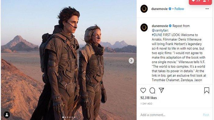 Film Dune Tampilkan Gambar Pertama Dalam Pembuatan Filmnya