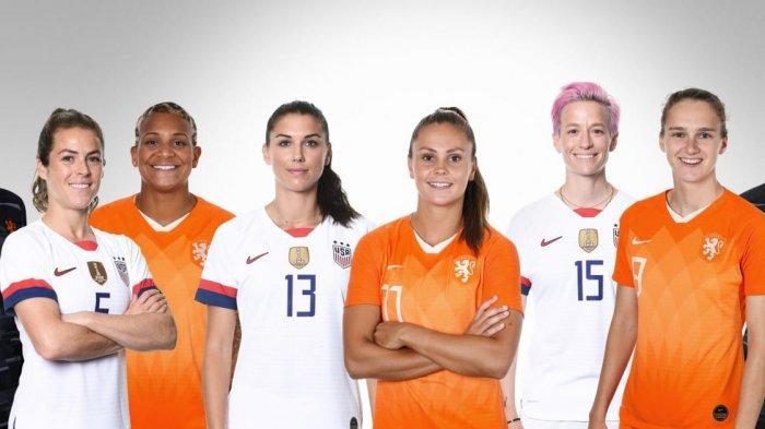 LIVE Streaming Belanda Vs Amerika Serikat Final Piala Dunia Wanita 2019, LIVE Score AS Vs Belanda
