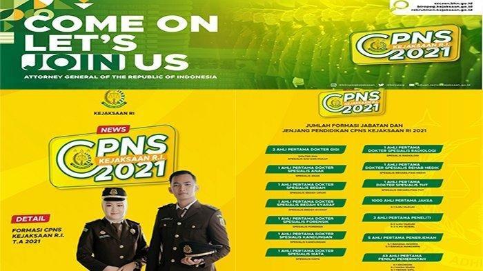 FORMASI Kejaksaan Agung CPNS 2021 pdf  & Persyaratan CPNS Kejaksaan Agung 2021 Login Situs SSCN