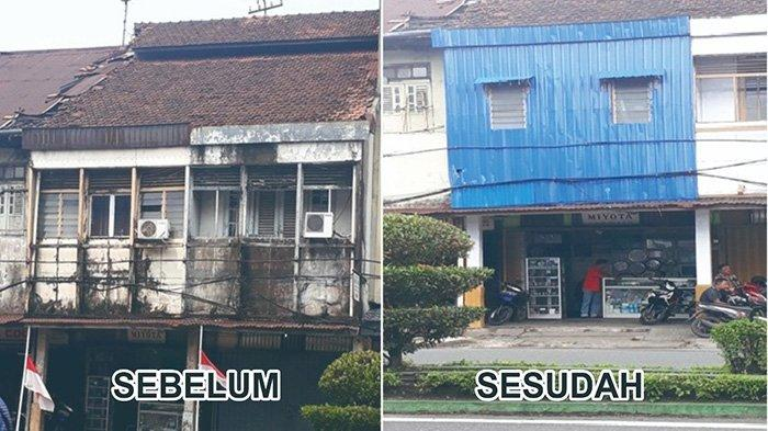 Pemkot Pontianak Imbau Percantik Bangunan Ruko di Jalan Tanjung Pura - foto-bangunan-toko-jam-miyota-di-jalan-tanjung-pura-1.jpg