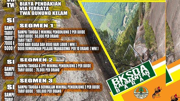 Rincian Biaya Pendakian Via Ferrata TWA Gunung Kelam