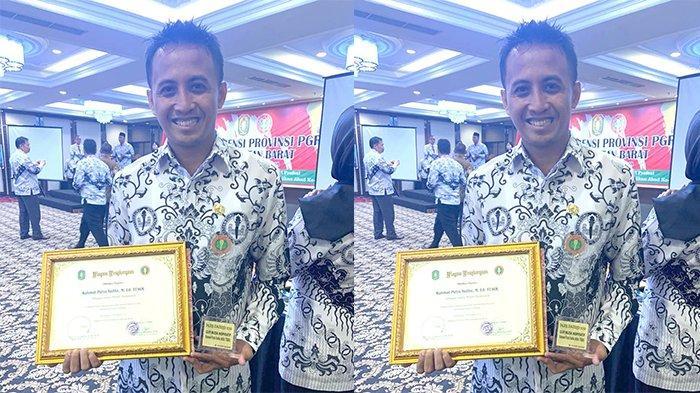Rahmat Putra Yudha Raih Penghargaan Sebagai Guru Inspiratif dari PGRI Kalbar