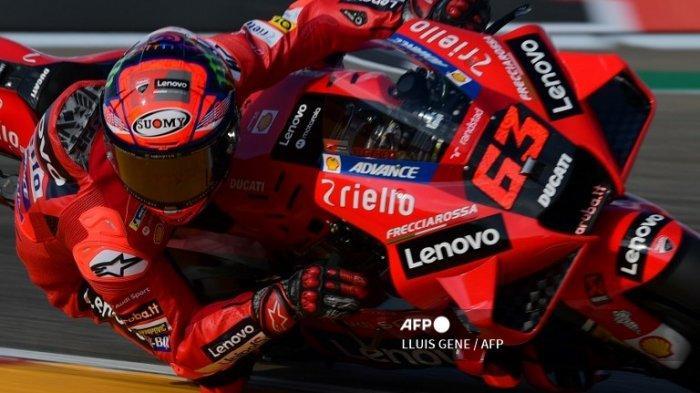 FRANCESCO Bagnaia Rebut Pole Position MotoGP Hari Ini, Marc Marquez 4 Besar di Urutan Start GP Besok